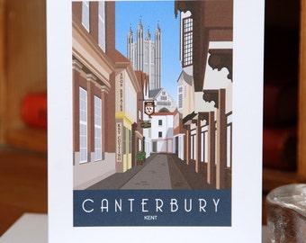 Greetings Card of Butchery Lane, Canterbury