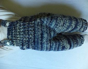 Bib & brace Dungarees 62/68 Merino Wool knitted pants baby pants