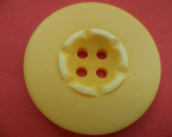 8 large buttons 28mm yellow (4394) button coat buttons jacket buttons