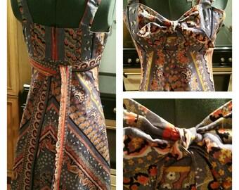 1970s  cotton Sun dress UK Size 6 to 8