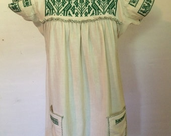 Vintage embroidered small folk dress