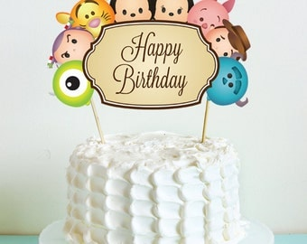 Tsum Tsum Cake Topper. Tsum Tsum Birthday Party. Party Supplies. Baby Shower. DIGITAL FILE