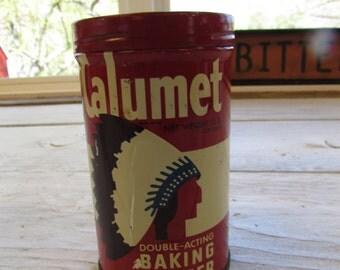 Vintage Calumet Baking Powder Round Tin