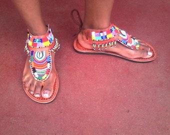 ngiri maasai gladiator sandals