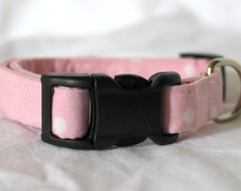 Pretty Pink Polka Dot Dog Collar