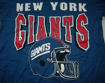 New York Giants vintage nfl  printed t shirt by Garan made in the USA  NEW with tags