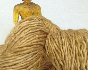 Hand-dyed silk yarn