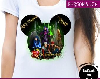 Descendants Shirt, Disney Descendants Shirt, Disney Descendants Tank, Evie Shirt, Mal Shirt, Jay Shirt, Carlos Shirt, Descendants Hoodie