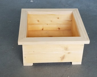 Custom Square Wooden Garden Box Planter