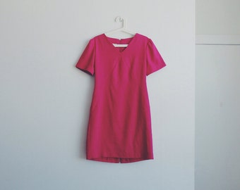 1960s vintage fuchsia dress