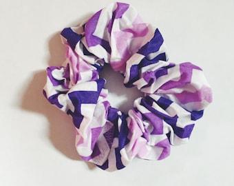 Purple Zig Zag Scrunchie
