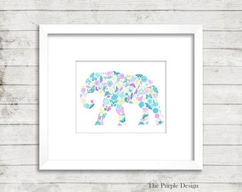 Wall Art Digital Print Elephant