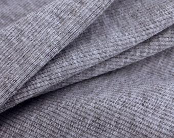 1x1 Rib Knit Fabric (Wholesale Price Available By the Bolt) Made in USA Premium Quality - 2103RH10 - 1 Yard