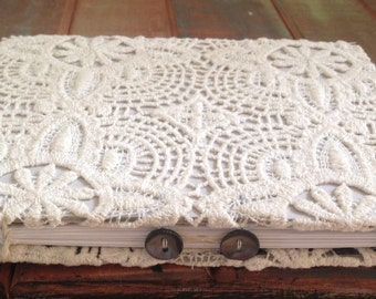 Lace and Buttons Journal, Hand bound