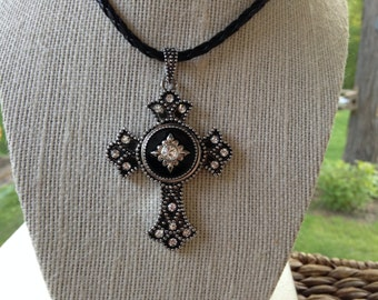 Black Jeweled Cross