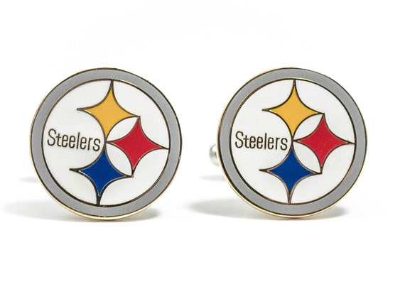 Pittsburgh Steelers Cuff Links -- FREE SHIPPING with USPS First Class Domestic Mail