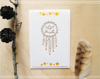 "Card ""Dreamcatcher"" 3/Handmade card/Scrapbooking card/Greeting card/Card for any occasion"