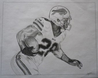 "CJ Spiller print 8""x10"" signed and numbered by the artist"