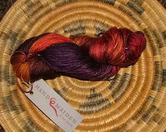 Hand Maiden Fine Yarn Silken Hand Dyed Made in Canada Crochet Knit