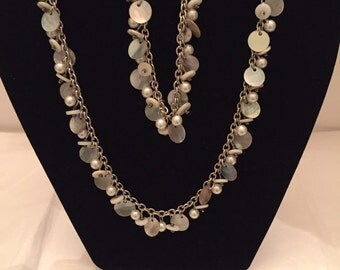 Pearl 'n Shell Necklace and Bracelet Set