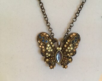 Sparkle in Flight Butterfly Pendant Necklace/Pendant