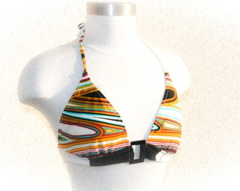 Point Conception Geometric Bikini Top - Size D