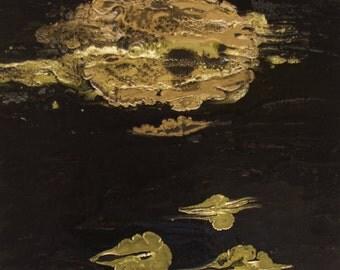 """Paint on canvas painting """"Deep Sea"""""""