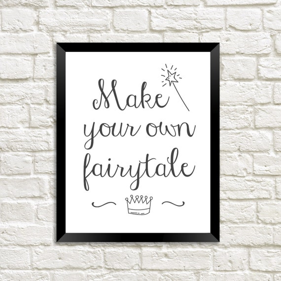 Make Your Own Wall Decor For Nursery : Make your own fairytale nursery wall art poster
