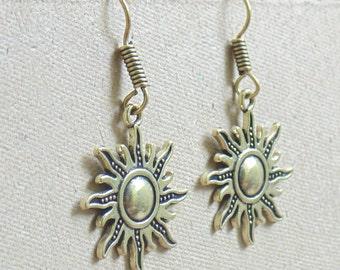 Sun Earring | Dangle Earrings | Indian Jewellery | Oxidized Earrings | Dangle Earrings | Boho Gypsy Earring | Metal Jewelry Earring | E36