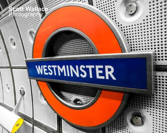 Westminster London Underground Roundel Photo