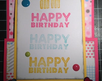 Birthday Card with Gift Card Holder