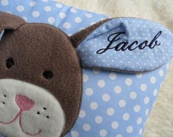 Personalized baby pillow Bunny Odoretta ©® 10 inch x 14 inch 25 x 35 cm