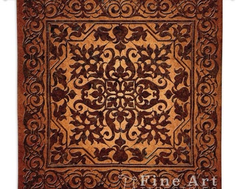 Iron Work Wall Tapestry - SKU: 2888-WH