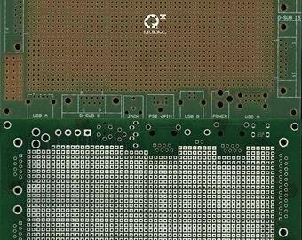 Universal PCB 160mm x 100mm for connectors (Eth,DSUB,PS2,USB,Pow,Jack)