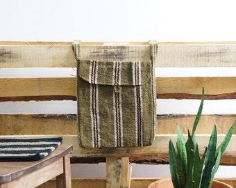 Boho Crossbody Bag - Handwoven Andean Cotton - Made in Cusco