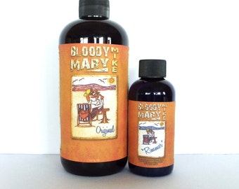 BLOODY MARY MIKE 16oz(Makes Half Gal.)& 4oz Rimmer Seasoning