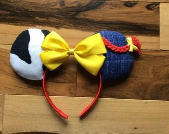 Back In Stock***Jesse Toy Story Ears, Jesse Mickey Ears, Disney Inspired Jesse Toy Story Custom Minnie Ears