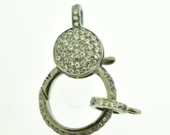 pave white topaz clasp