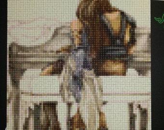 Lenne & Shuyin pixel art- Final Fantasy X-2