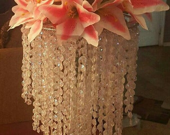 Pink Tiger Lily Chandelier Centerpiece