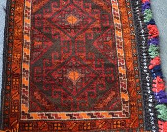 3'3 x 2'2 Foot Afghan Handmade Cushion Cover Afghan Tribal Balisht