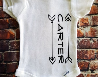 Personalized onesie, Custom name onesie, Boys onesie
