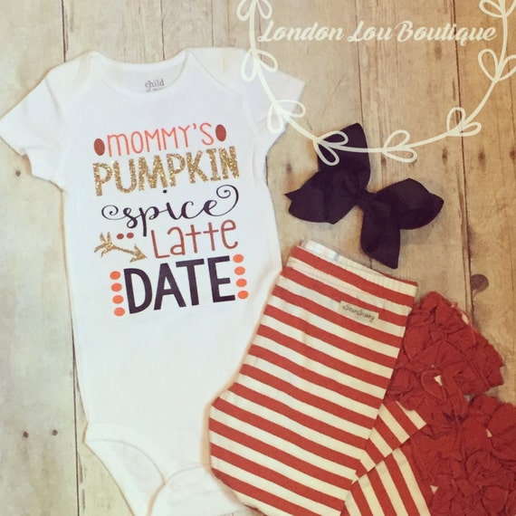 Mommy's Pumpkin Spice Latte Date,Fall, Pumkin Spice, Custom, Girl, Toddler, Glitter