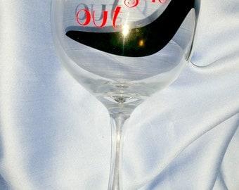 "Handmade ""Girls Night Out"" Wine Glass"