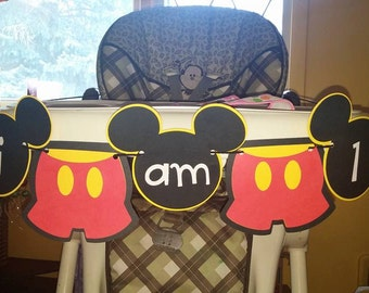 Mickey Mouse Highchair Banner