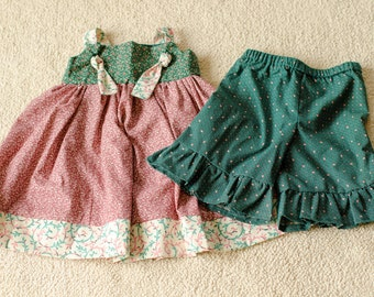 Knot dress and capris/bloomers, size 4