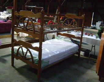 Super cute retro nautical/wagon wheel bunkbed set