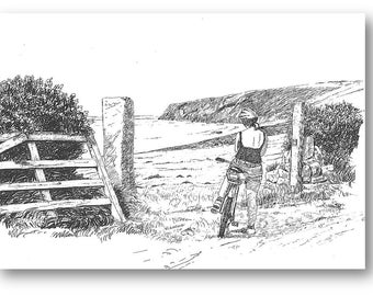 Drawings made to commission of your bicycles and tour adventures