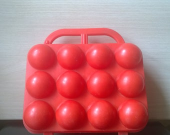 Vintage egg holder RED