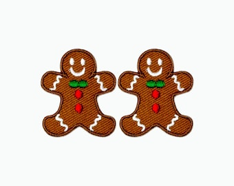 Set of 2 - The X'mas Cookie. Iron-on Patch/Flex stickers/Applique